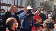 گزارش تصویری| تجمع اعتراضی هواداران پرسپولیس جلوی مجلس