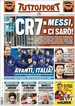 روزنامه توتو| CR7: مسی، من آنجا خواهم بود!