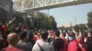 ویدیو| اعتراض هواداران پرسپولیس مقابل مجلس به مفقود شدن پاداش آسیایی تیم