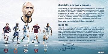 عکس| خداحافظی مدافع آرژانتینی از فوتبال