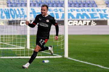 عکس| گلزنی ماریو گوتسه در اولین بازی برای آیندهوون