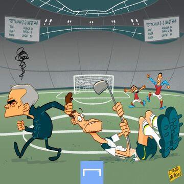 کارتون| وقتی در بازگشت گرت بیل، ژوزه مورینیو عصبانی شد