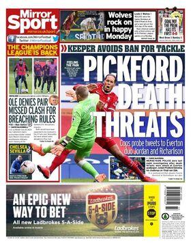 روزنامه میرر| تهدید به مرگ پیکفورد