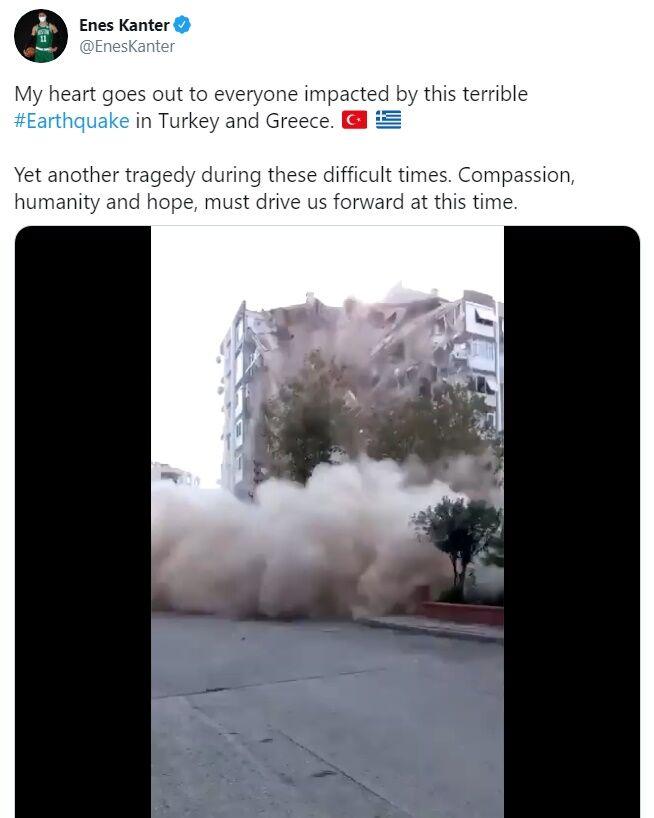 واکنش انس کانتر ستاره NBA به زلزله ترکیه