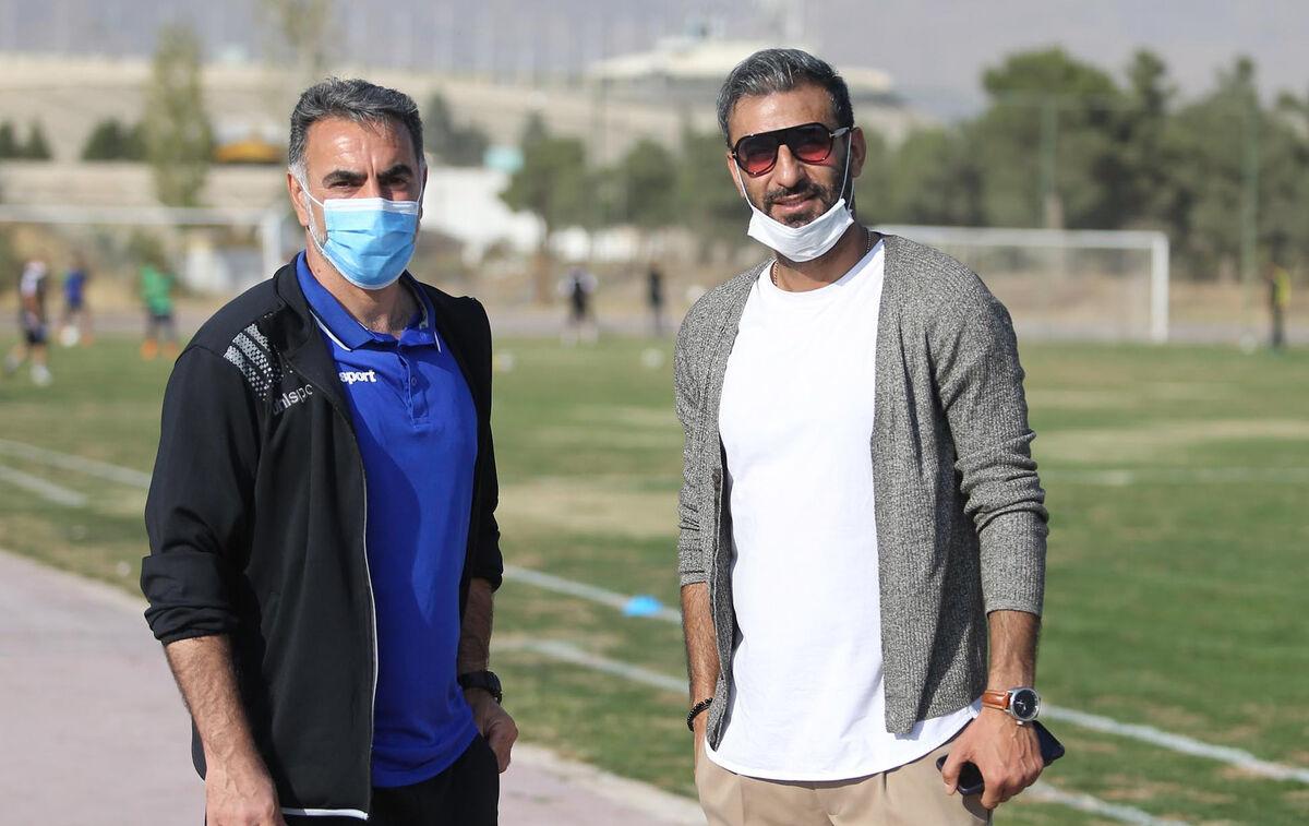 عکس| تبریک روز مربی به محمود فکری
