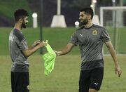 عکس| نخستین تمرین علی کریمی با تیم قطری