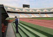ورزشگاه آزادی ضدعفونی شد