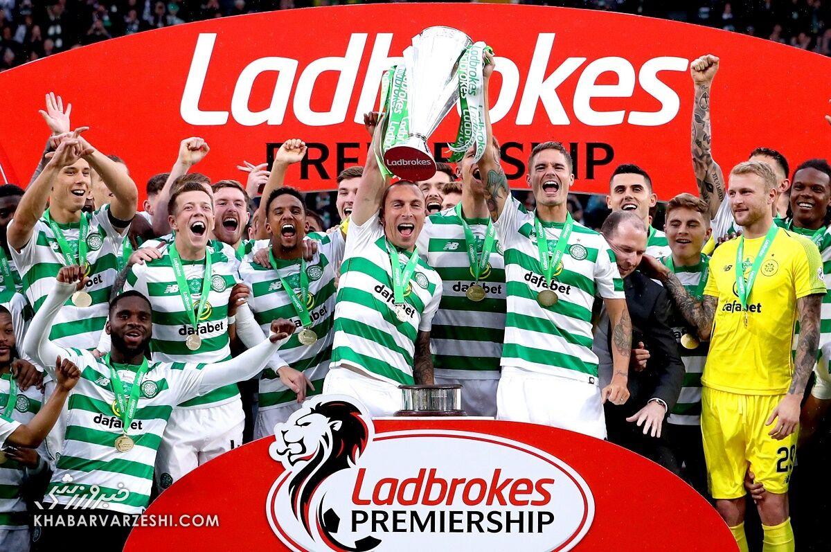 قهرمانی سلتیک در لیگ برتر اسکاتلند
