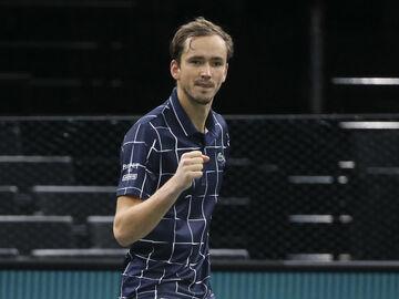 قهرمانی دنیل مدودوف در تنیس مسترز پاریس