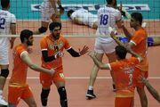 گزارش تصویری  پیروزی قاطع سایپا مقابل شهرداری قزوین در لیگ برتر والیبال