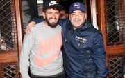 پسر ایتالیاییِ مارادونا در بیمارستان بستری شد