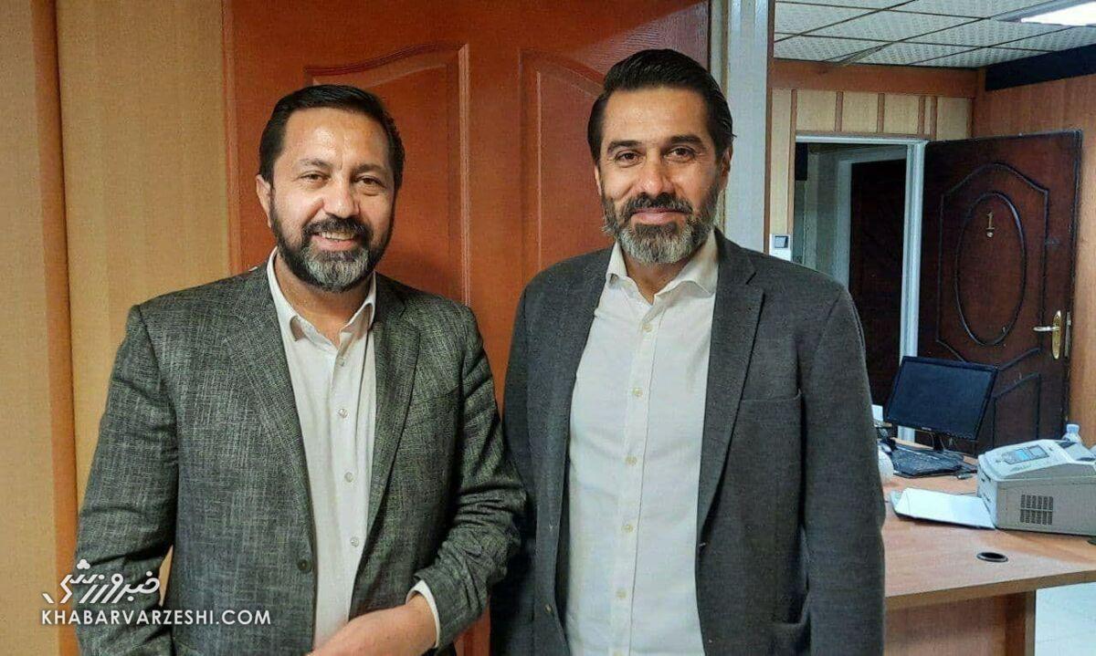 دیدار افشین پیروانی و علی اصغر مدیرروستا در سازمان لیگ