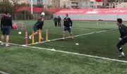 ویدیو| تمرینات امروز پرسپولیس در هوای سرد تهران