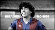 عکس| پیام بارسلونا پس از درگذشت مارادونا
