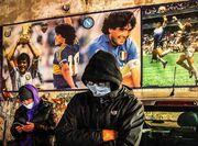 تصاویر| ماتم در ایتالیا و آرژانتین پس از مرگ مارادونا