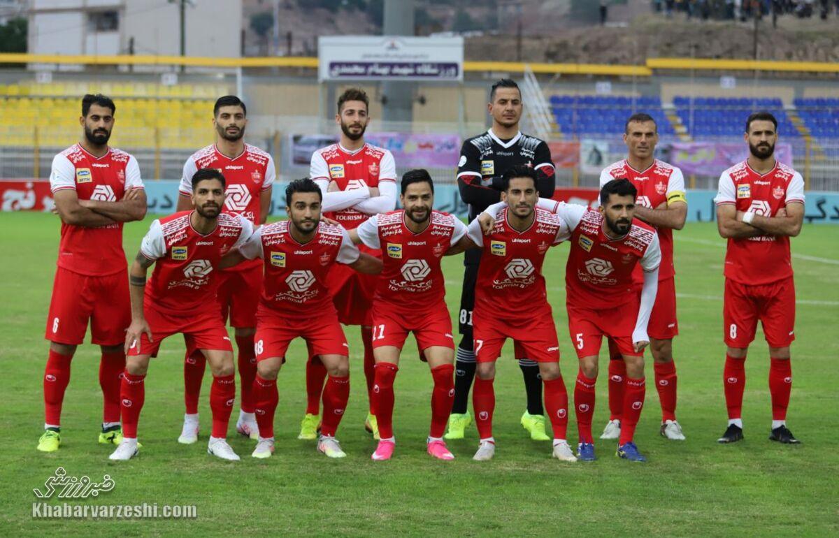 عکس تیمی پرسپولیس مقابل نفت مسجدسلیمان