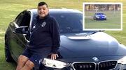 عکس| وقتی مارادونا با آژیر پلیس به تمرین رفت