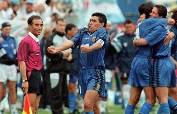 عکس| پایان تلخ و شیرین دیگو مارادونا در تیم ملی آرژانتین