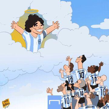 کارتون| خداحافظی با دیگو مارادونا