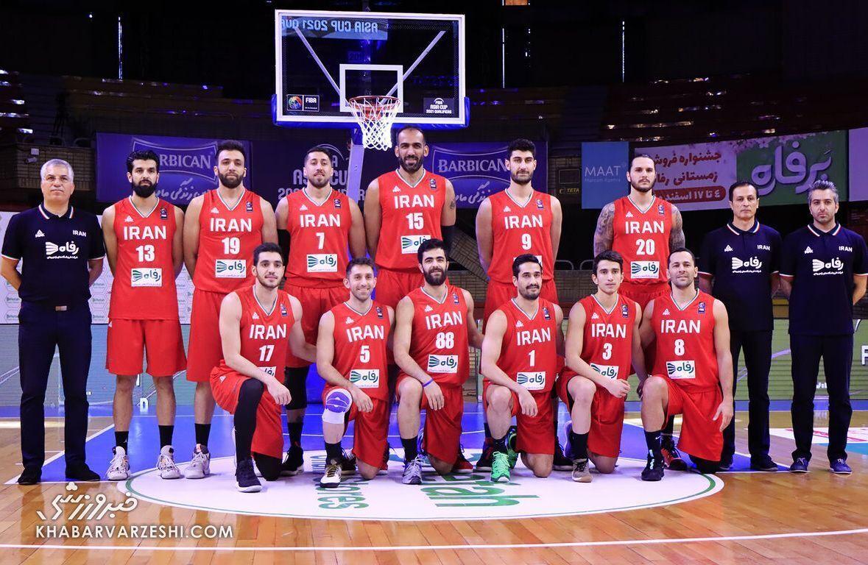 آخرین رنکینگ جهانی تیم ملی بسکتبال ایران