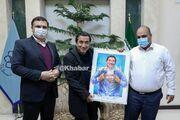 عکس| تقدیر از خداداد عزیزی در مشهد