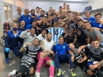 عکس روز| پیروزی تیم دیگو مارادونا تقدیم به او
