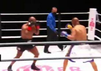 ویدیو| مبارزه  تایسون و جونز بدون برنده