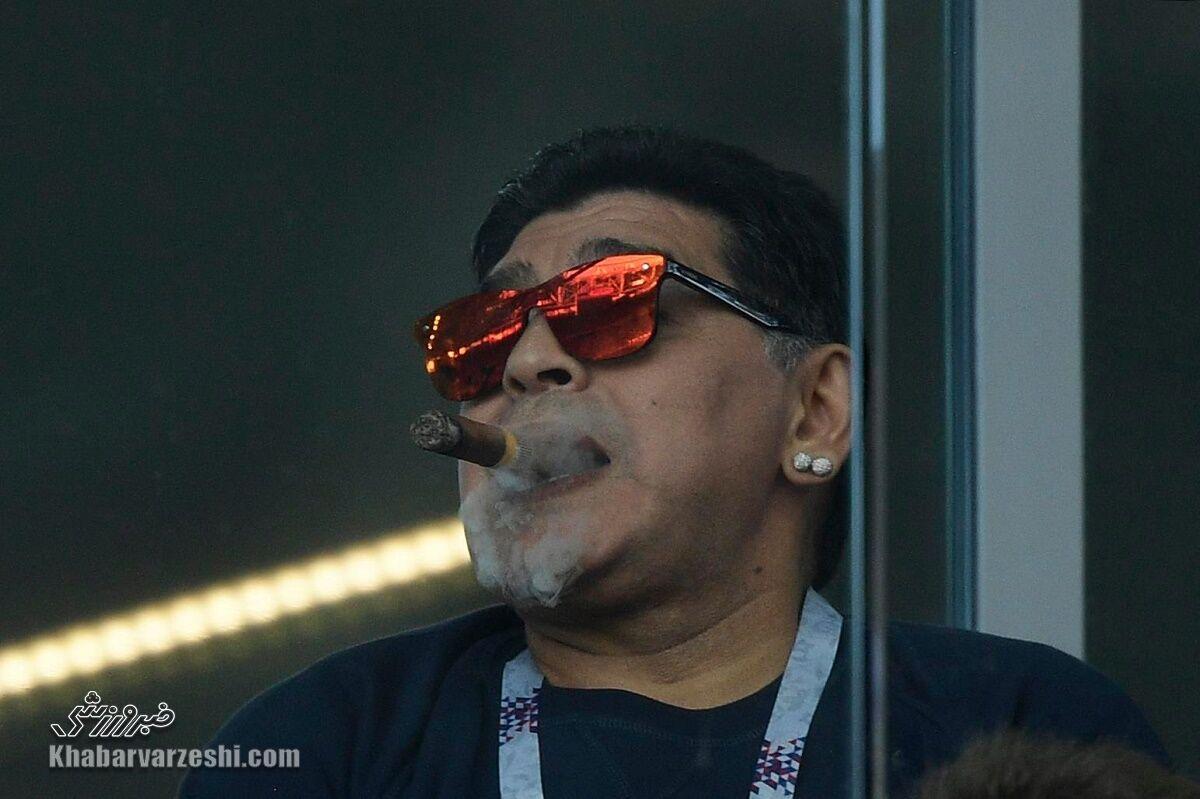 عادتهای بد دیگو مارادونا؛ سلطان کوکائین و دود