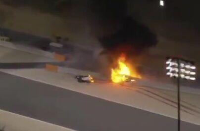 ویدیو| لحظه آتش گرفتن وحشتناک ماشین در گرندپری بحرین
