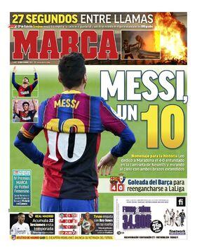 روزنامه مارکا| مسی، یک ۱۰