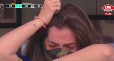 ویدیو| حرکت زیبای بازیکنان بوکاجونیورز که اشک دختر دیگو مارادونا رو درآورد