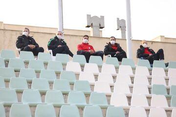 عکس| دراگان اسکوچیچ تماشاگر بازی تیم ملی جوانان مقابل سایپا