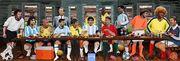 عکس| شام آخر ستارگان؛ طرحی جذاب از اسطورههای فوتبال