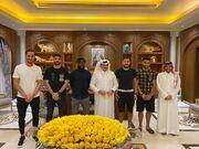 عکس| دیدار علی کریمی با رئیس قطر اسیسی