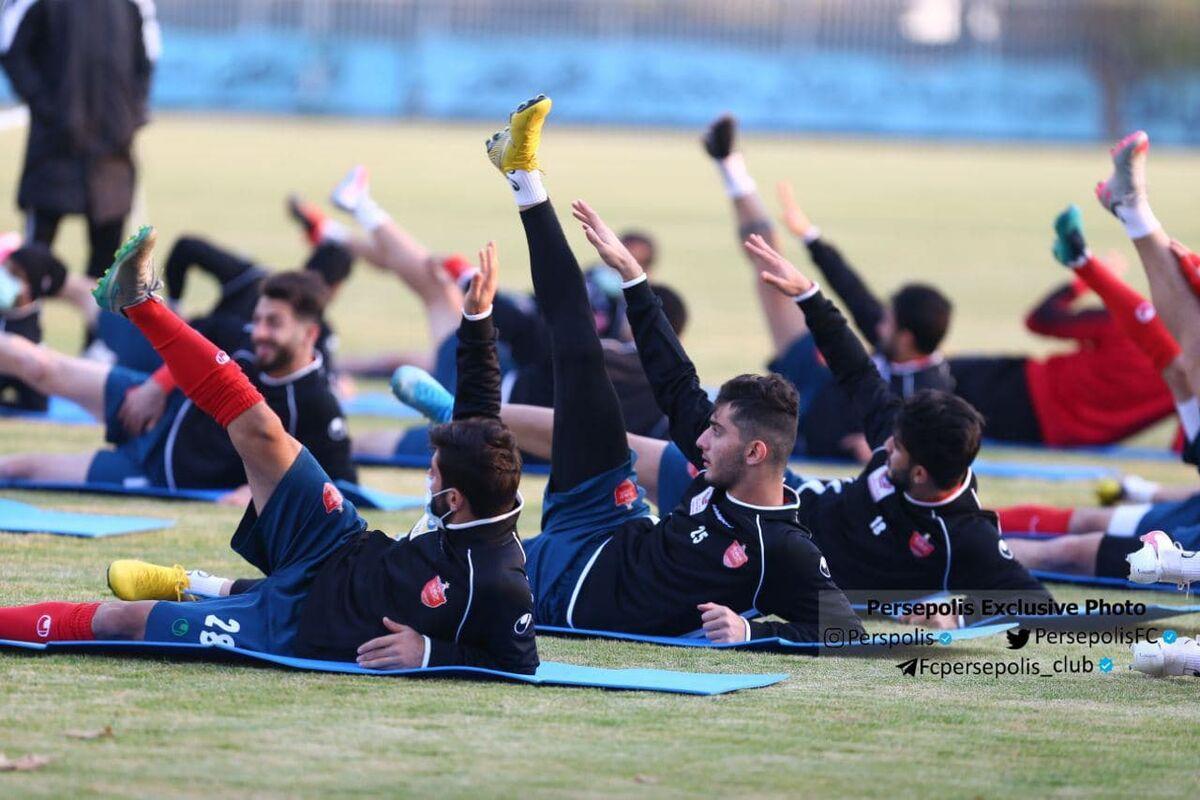 تمرین یک ساعته پرسپولیس در زمین شماره ۲ تیم ملی