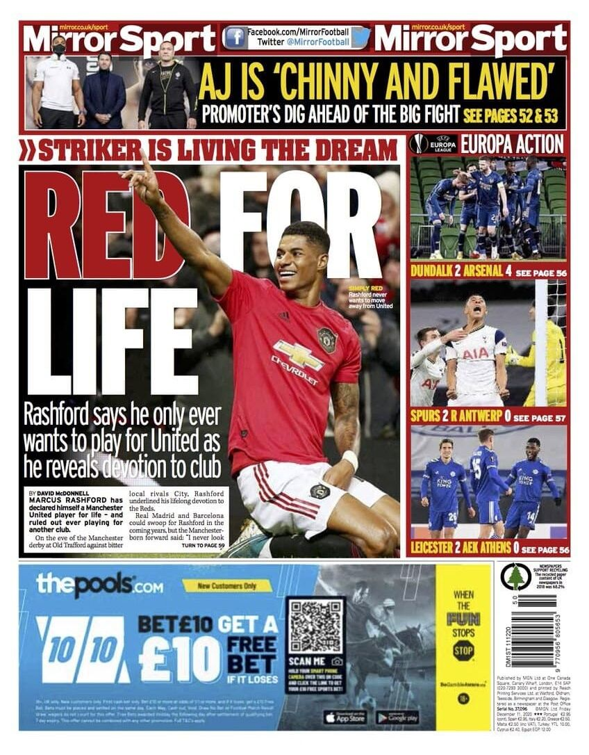 روزنامه میرر| قرمز برای زندگی