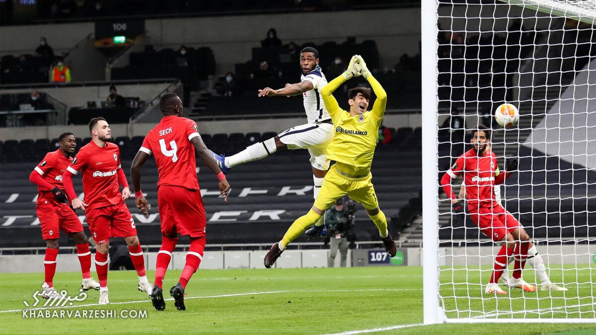 علیرضا بیرانوند دروازهبان تیم منتخب هفته پایانی مرحله گروهی لیگ اروپا