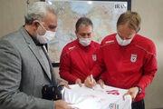 عکس| هدیه اسکوچیچ و هاشمیان به مربی پیشین تیم ملی