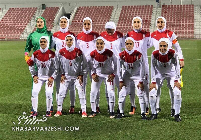 ایران ۸ - افغانستان صفر/ پیروزی پرگل دختران فوتبالیست ایران مقابل افغانستان