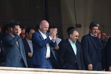 جانی اینفانتینو تماشاگر بازی رقیب تیم ملی ایران