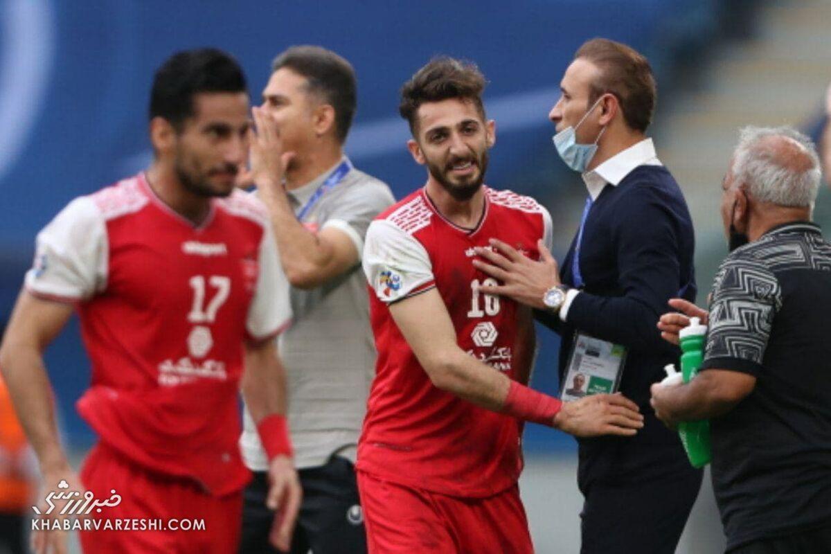 مهدی عبدی و یحیی گلمحمدی در دیدار پرسپولیس و اولسان هیوندای