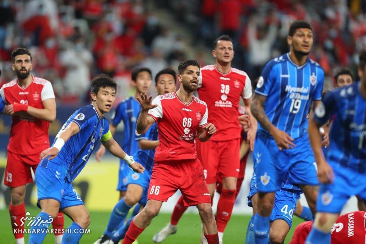 آنالیز AFC از فینال لیگ قهرمانان آسیا: اولسان برتر از پرسپولیس در تاکتیک تیمی