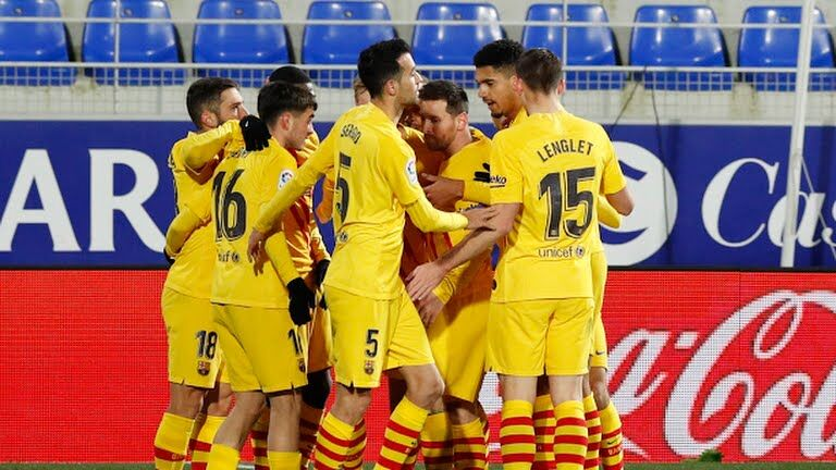 ویدیو| خلاصه بازی هوئسکا۰-۱ بارسلونا