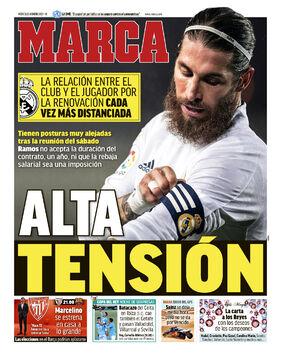 روزنامه مارکا| تنش بالا