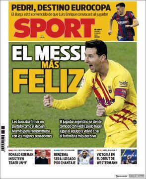 روزنامه اسپورت| شادترین مسی