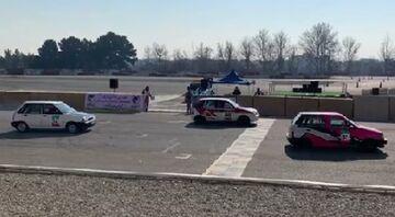 ویدیو| ترکیدن لاستیک شرکت کننده مسابقات اتومبیلرانی