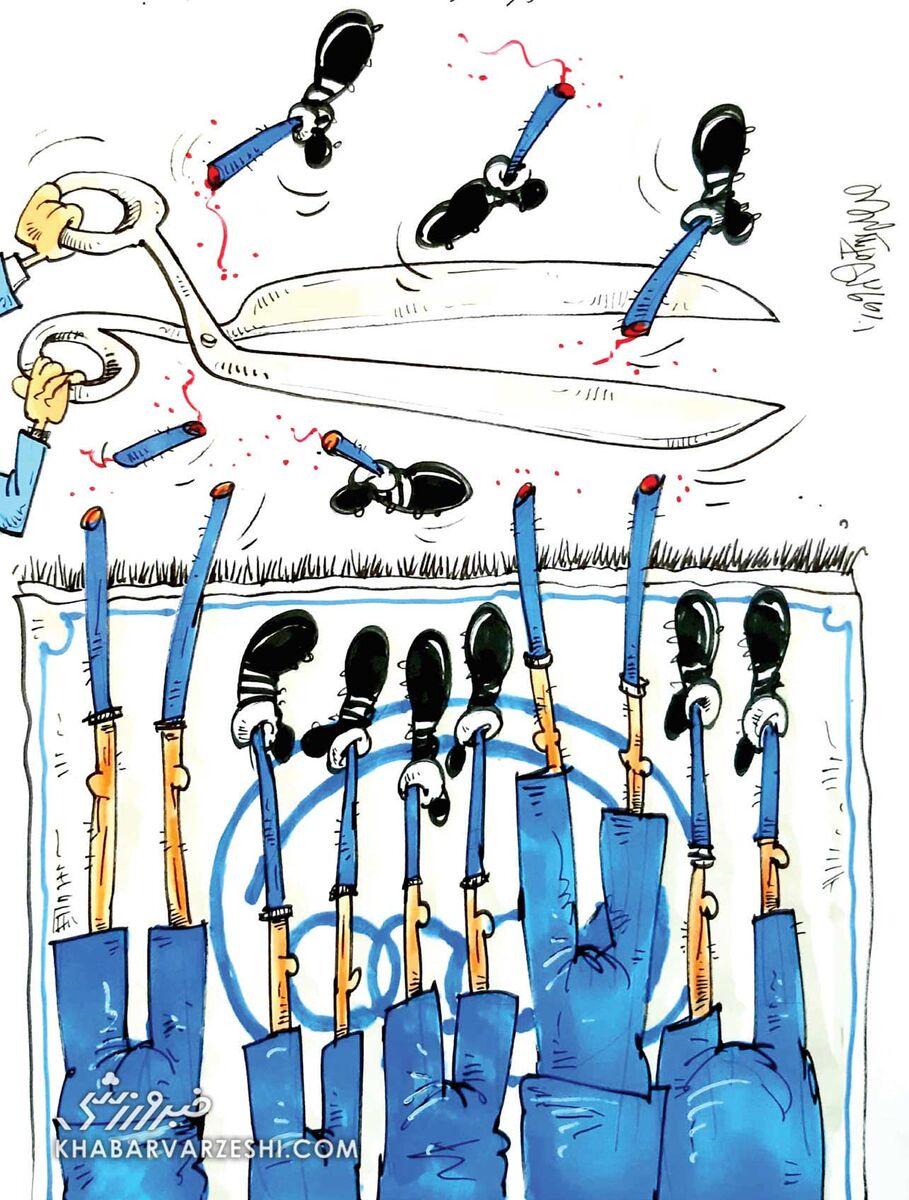 کارتون محمدرضا میرشاهولد درباره فکری در استقلال