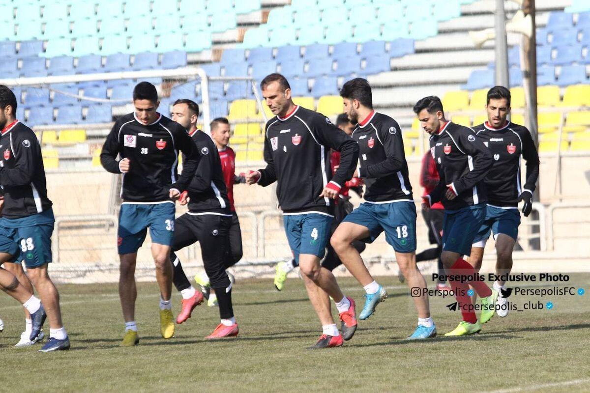 تمرین تاکتیکی پرسپولیسیها زیر نظر یحیی گلمحمدی