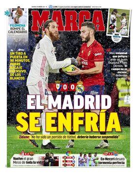 روزنامه مارکا| مادرید یخ زد