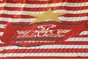 عکس  رونمایی از پرچم ۲۸۰۰ متری پرسپولیس